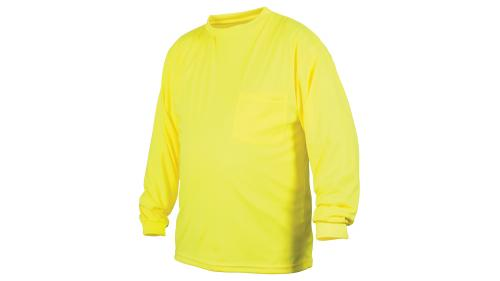 Pyramex RLTS31NS NON-RATED HI-VIS LIME LONG SLEEVE T-SHIRT