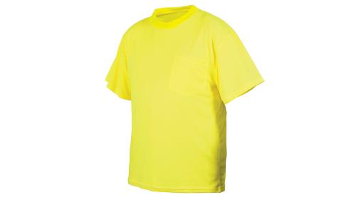 Pyramex RTS2110NS  NON-RATED HI-VIS LIME T-SHIRT