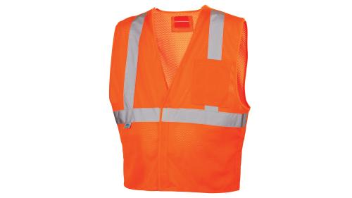 Pyramex RVHL25 SERIES HI-VIS ORANGE SAFETY VEST
