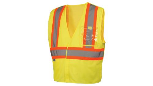 Pyramex RVHL27 SERIES CLASS 2 HI-VIS LIME SAFETY VEST MED