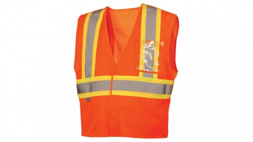 Pyramex RVHL27 SERIES CLASS 2 HI-VIS LIME SAFETY VEST