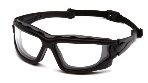 Pyramex WOLFHOUND BLACK FRAME/TEMPLES/STRAP CLEAR A/F D/P