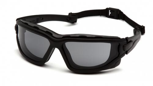 Pyramex WOLFHOUND BLACK FRAME/TEMPLES/STRAP GRAY A/F D/P