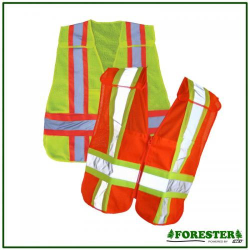 ZIPPER BREAK-AWAY VEST LIME 3X
